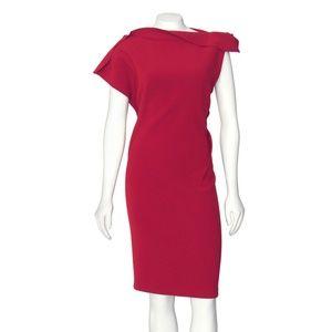 Lanvin Paris Wool Crepe Origami Sheath Dress